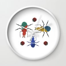 playful insects Wall Clock