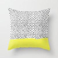 Polka Dot Rain Dip Throw Pillow