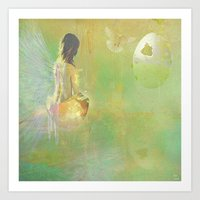 The Angel And The Dove O… Art Print