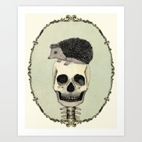 Yojik On A Skull Art Print