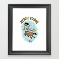 Heroic Escape Framed Art Print