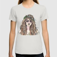 Ophelia Womens Fitted Tee Silver SMALL