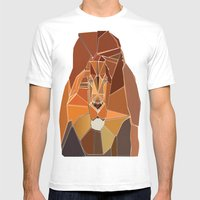 Dark Crystal Lion Mens Fitted Tee White SMALL