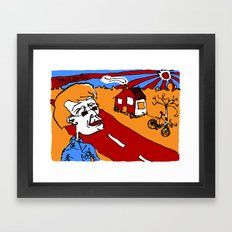 european bicycle ride Framed Art Print