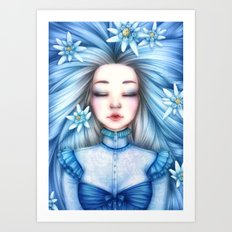 Asleap Art Print