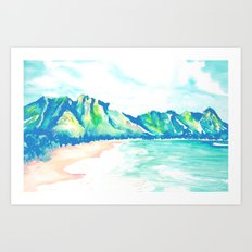 HAWAII BLUES Art Print