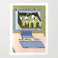 The Internet: A Wastelan… Art Print