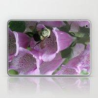 Bumble Bee In Foxglove Laptop & iPad Skin