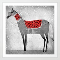 RED SADDLE Art Print