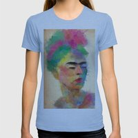 Frida Kahlo Womens Fitted Tee Athletic Blue SMALL