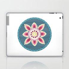 Suzani inspired floral blue 2 Laptop & iPad Skin