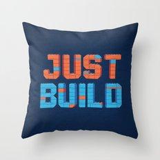 Just Build Throw Pillow