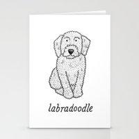 Dog Breeds: Labradoodle Stationery Cards