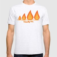 Friendly Fire Mens Fitted Tee Ash Grey SMALL