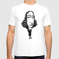 Spinoza Mens Fitted Tee White SMALL