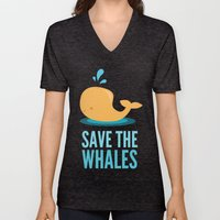 SAVE THE WHALES Unisex V-Neck