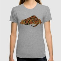 Mexican Candy Corn Snake Womens Fitted Tee Athletic Grey SMALL