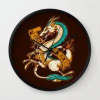 SPIRITED CREST Wall Clock