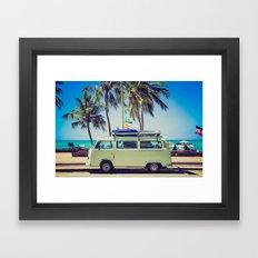 Camper beach 5 Framed Art Print