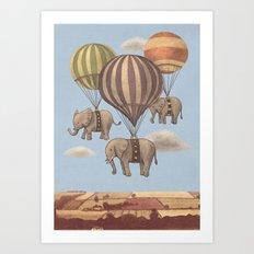 Flight Of The Elephants  Art Print