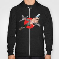 Bomber Mix Red Hoody