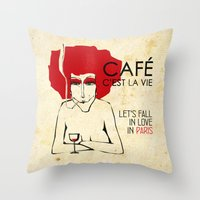 Café C'est La Vie - Par… Throw Pillow