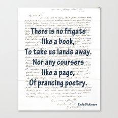 prancing poetry Canvas Print