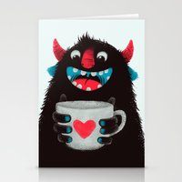 Demon With A Cup Of Coff… Stationery Cards