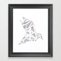 Diamond Bird - Lavender Framed Art Print