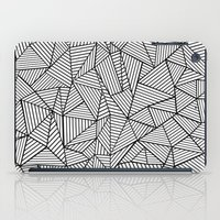 Abstraction Lines #2 Black and White iPad Case