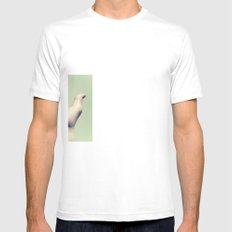 hot Mens Fitted Tee White SMALL