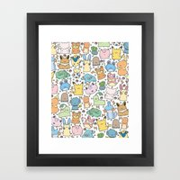 Kawaii Pokémon Framed Art Print