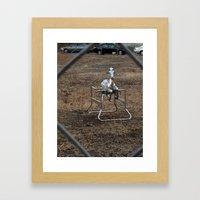 The Silver Hobby Horse 3 Framed Art Print