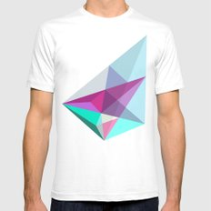 Elite  White SMALL Mens Fitted Tee