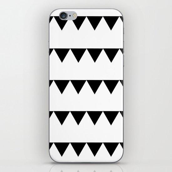 TRIANGLE BANNERS (Black) iPhone & iPod Skin