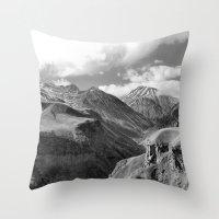 Caucasian Peak Throw Pillow