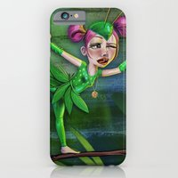 iPhone & iPod Case featuring Bug Girls: Yoga Mantis by Danielle Feigenbaum