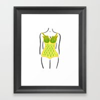 Pineapple One Piece Framed Art Print