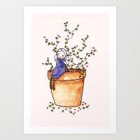 Tiny Girl  Art Print