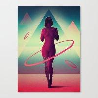 Átomos Canvas Print
