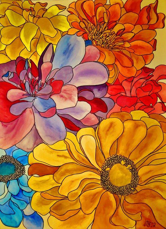 Flower Water Art Print