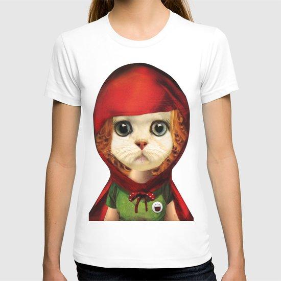 Kitten red riding  T-shirt