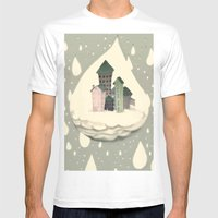 RAIN Mens Fitted Tee White SMALL