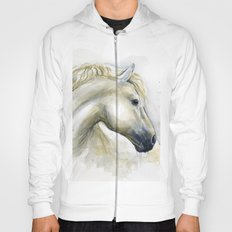 Horse Watercolor Painting | Animal Illustration Hoody