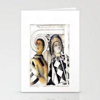 Harlequins Stationery Cards