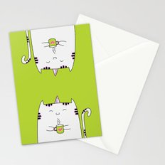 Kitty Unicorn with tea! Stationery Cards