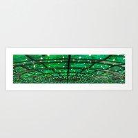 Green Everywhere Art Print