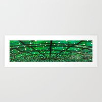 Green Everywhere Art Print