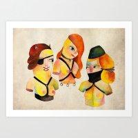 My Broken Dolls Art Print
