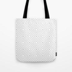 Squares white Tote Bag